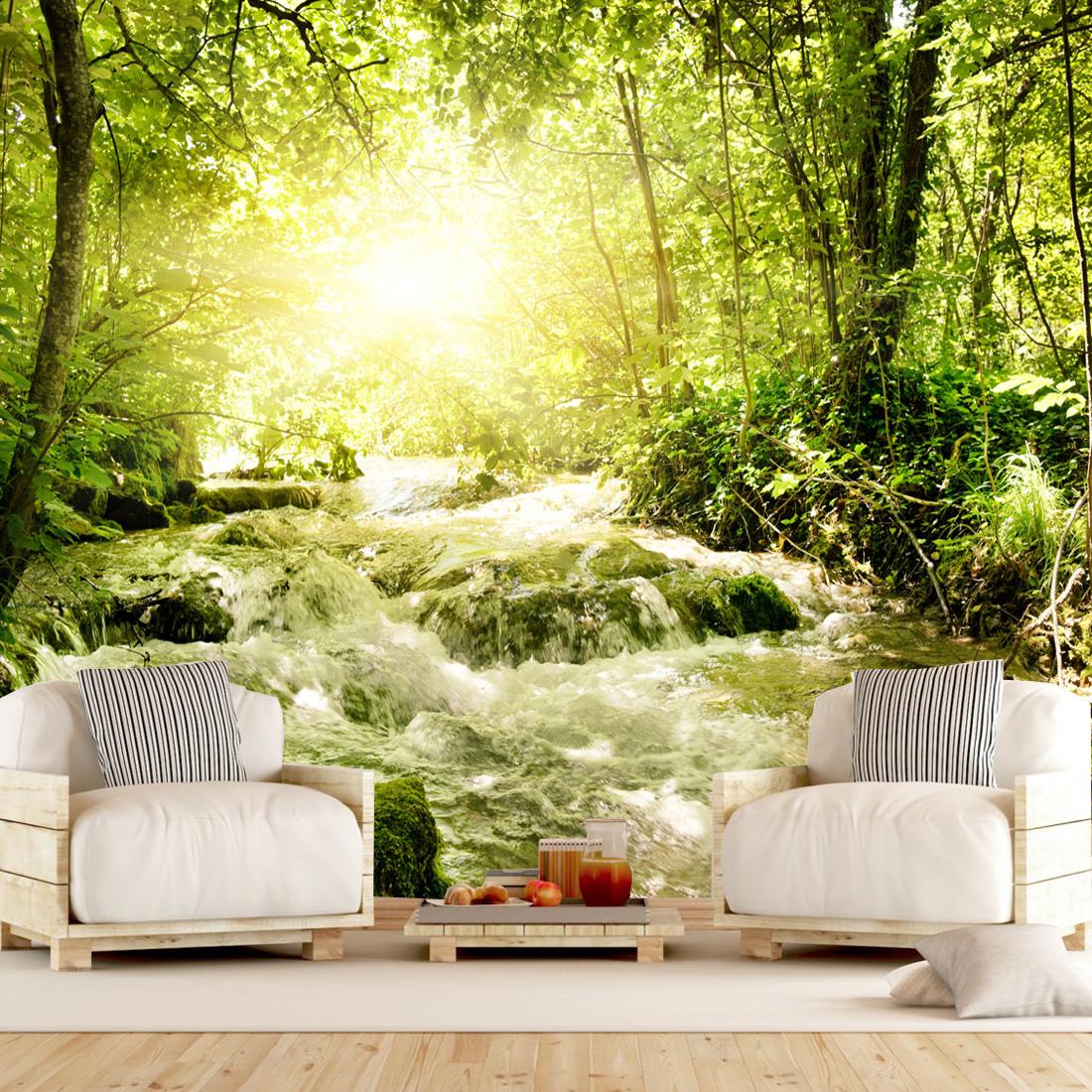 پوستر دیواری سه بعدی طرح جنگل کد 01134