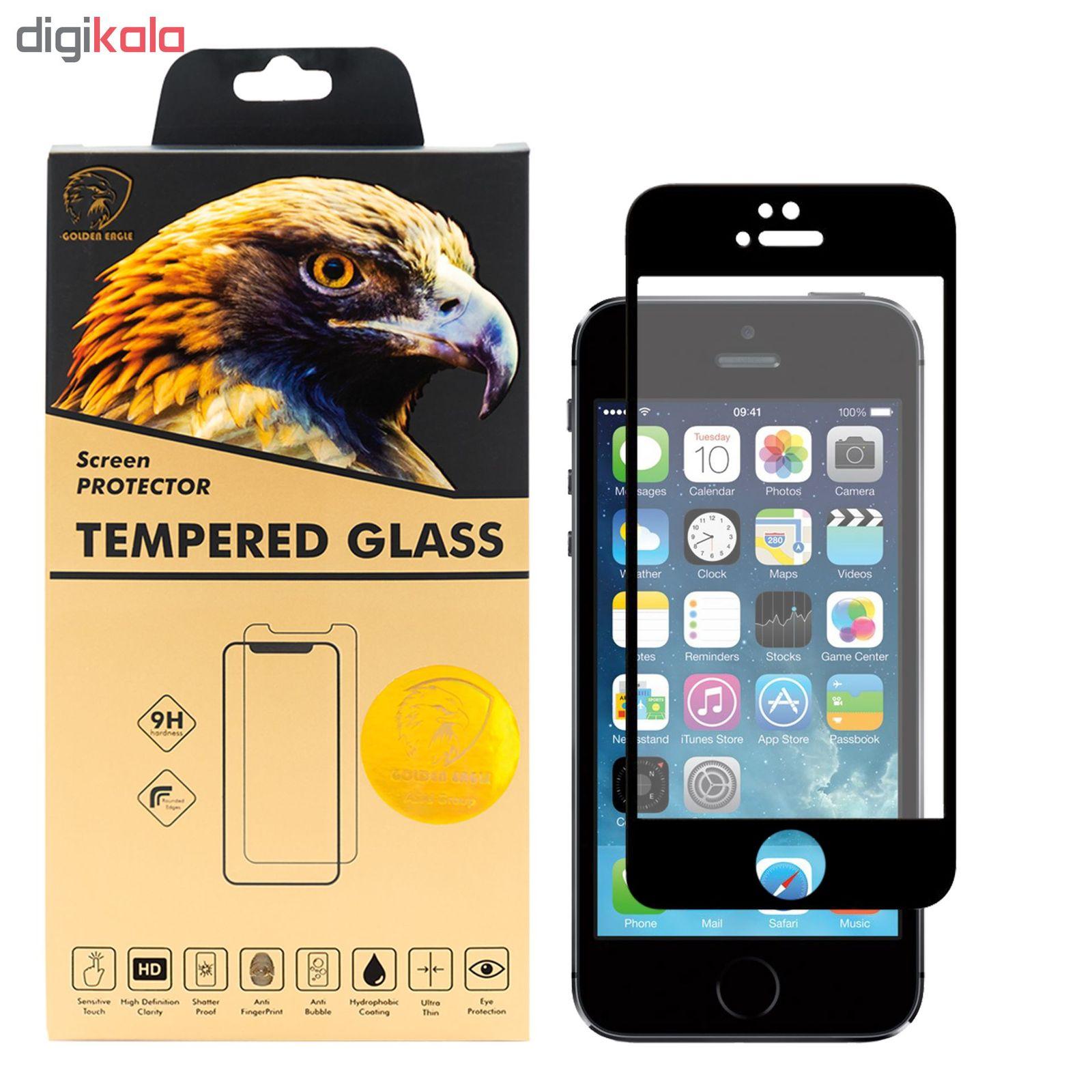 محافظ صفحه نمایش گلدن ایگل مدل DFC-X1 مناسب برای گوشی موبایل اپل iPhone SE main 1 1