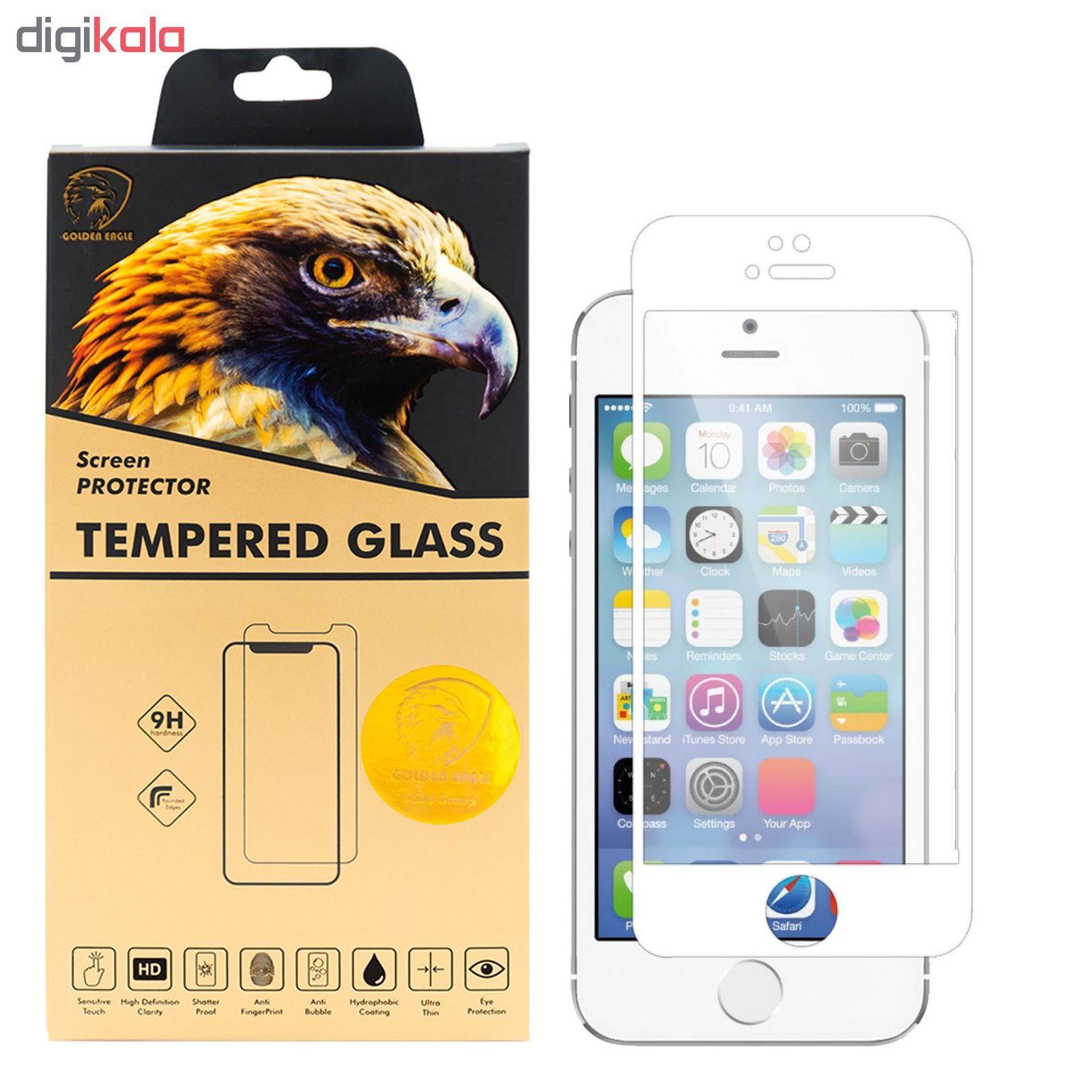 محافظ صفحه نمایش گلدن ایگل مدل DFC-X1 مناسب برای گوشی موبایل اپل iPhone SE main 1 2