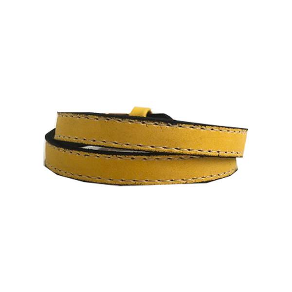 دستبند چرم پوستین مدل 105 تک سایز