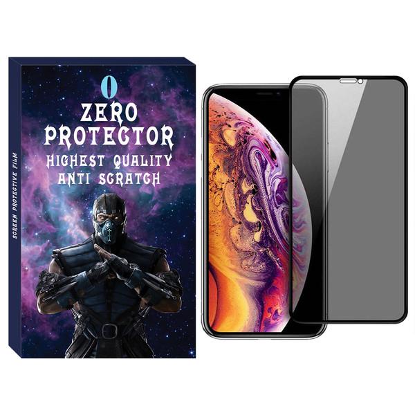 محافظ صفحه نمایش حریم شخصی زیرو مدل PRZ-01 مناسب برای گوشی موبایل اپل Iphone XS Max