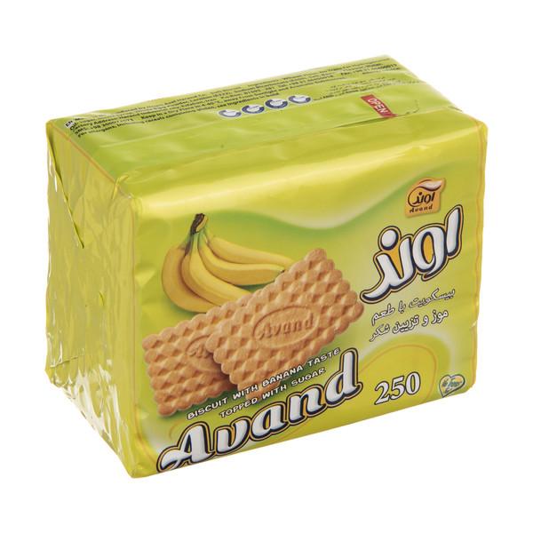 بیسکویت آوند با طعم موز و تزیین شکر - 230 گرم