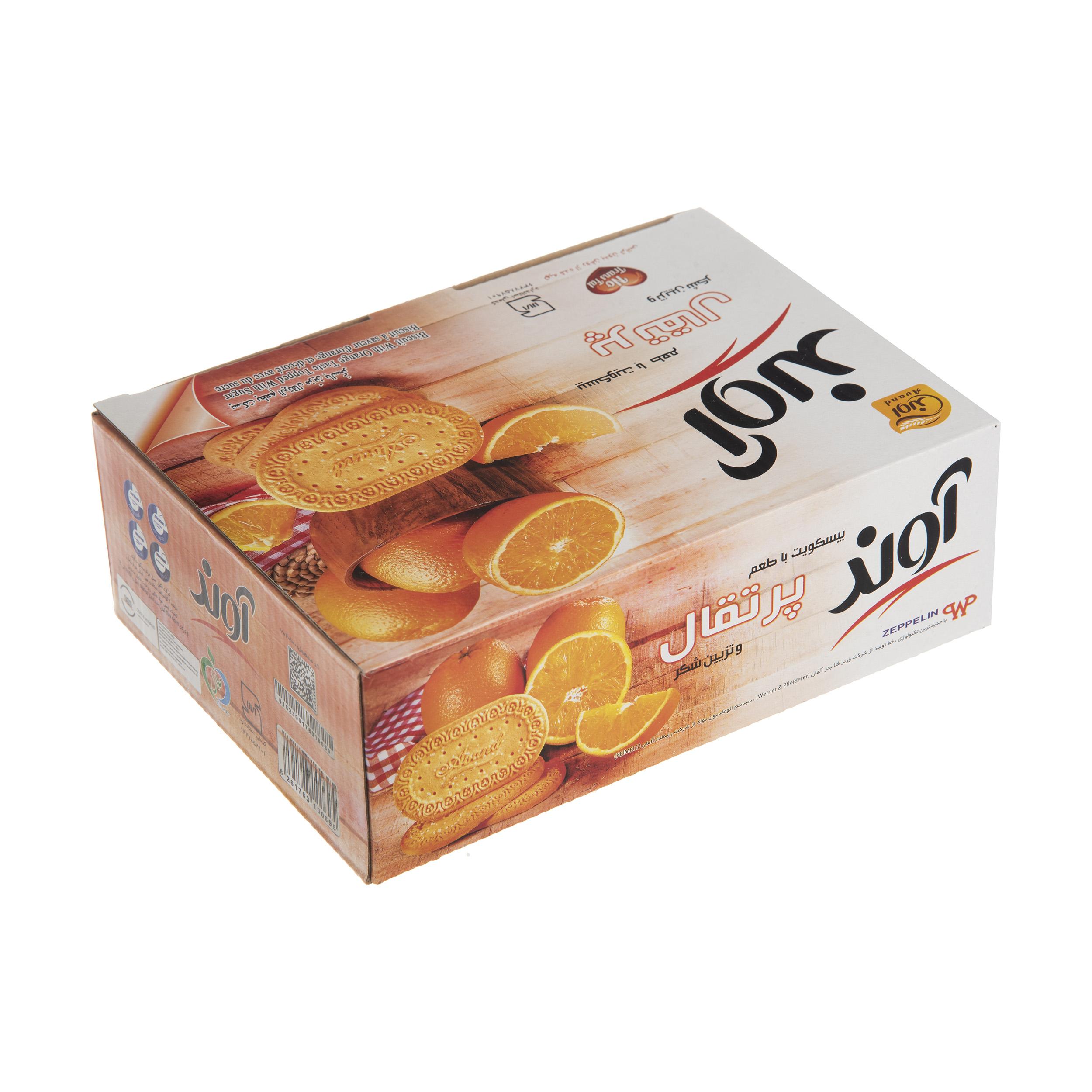 بیسکویت آوند با طعم پرتقال با تزیین شکر - 630 گرم