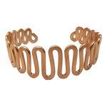 دستبند مسی طرح مارپیچ سایز 35 cm thumb