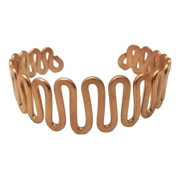 دستبند مسی طرح مارپیچ سایز 35 cm