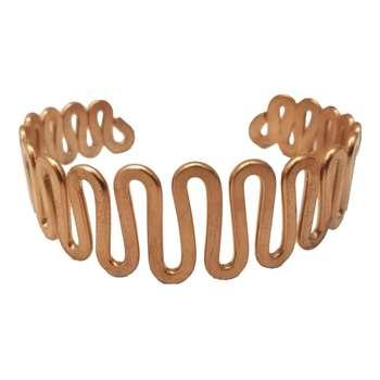 دستبند مسی طرح مارپیچ تک سایز