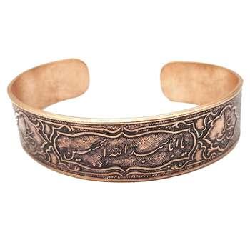دستبند مسی طرح یا حسین تک سایز