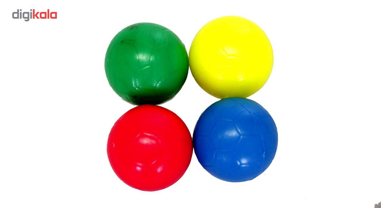 توپ فوتبال دستی بسته 4 عددی سایز 4 main 1 3