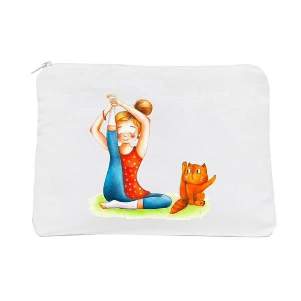 جامدادی طرح گربه و یوگا کد Z019