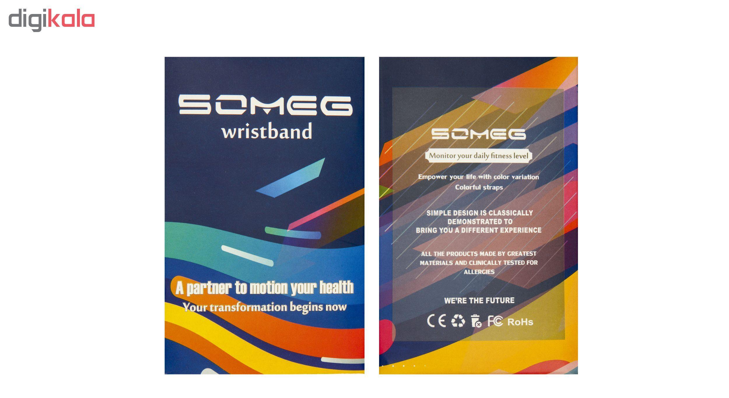 بند مچ بند هوشمند سومگ مدل SMG-S2 مناسب برای مچ بند هوشمند شیائومی Mi Band 3 و M3 main 1 12