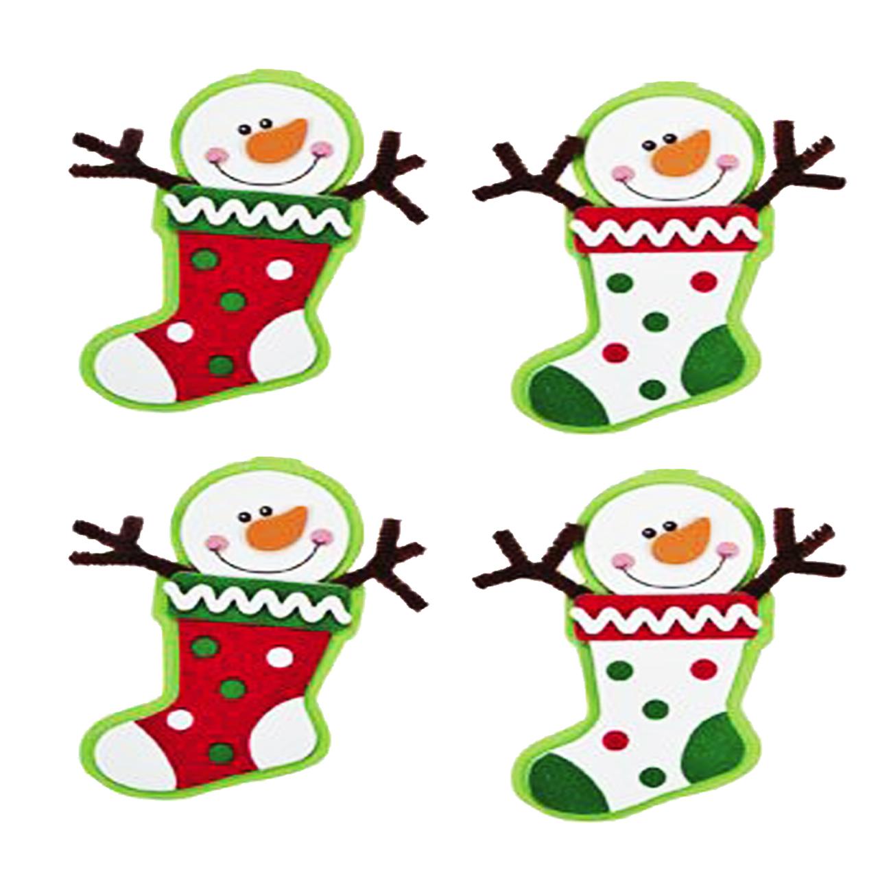آویز تزیینی هیاهو طرح کریسمس مدل لتونی مجموعه 4 عددی