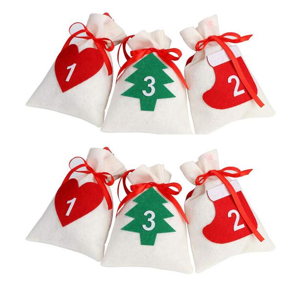 آویز تزیینی هیاهو طرح کریسمس مدل ویلتر مجموعه 6 عددی
