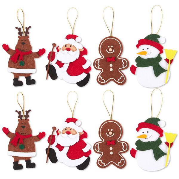 آویز تزیینی هیاهو طرح کریسمس مدل دیفر مجموعه 8 عددی