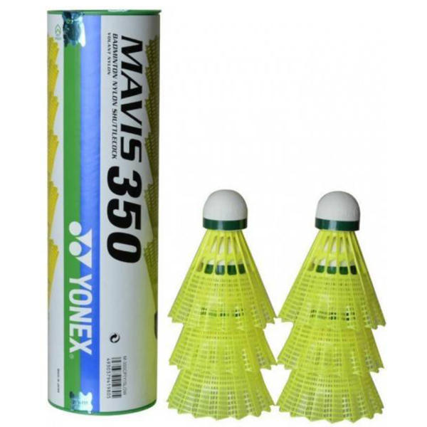 توپ بدمینتون یونکس مدل Mavis 350 بسته 6 عددی سایز 4