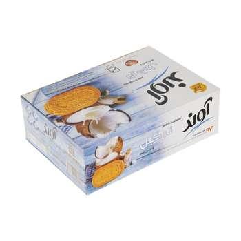 بیسکویت آوند با طعم نارگیل با تزیین شکر مقدار 630 گرم