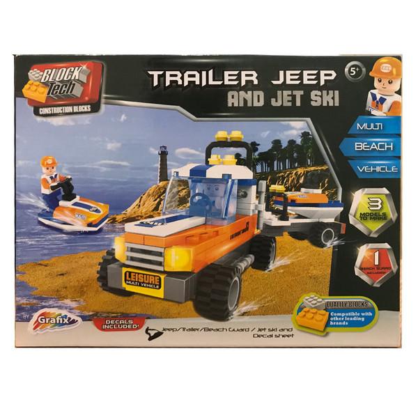 ساختنی گرافیکس مدل Trailer Jeep And Jet Ski