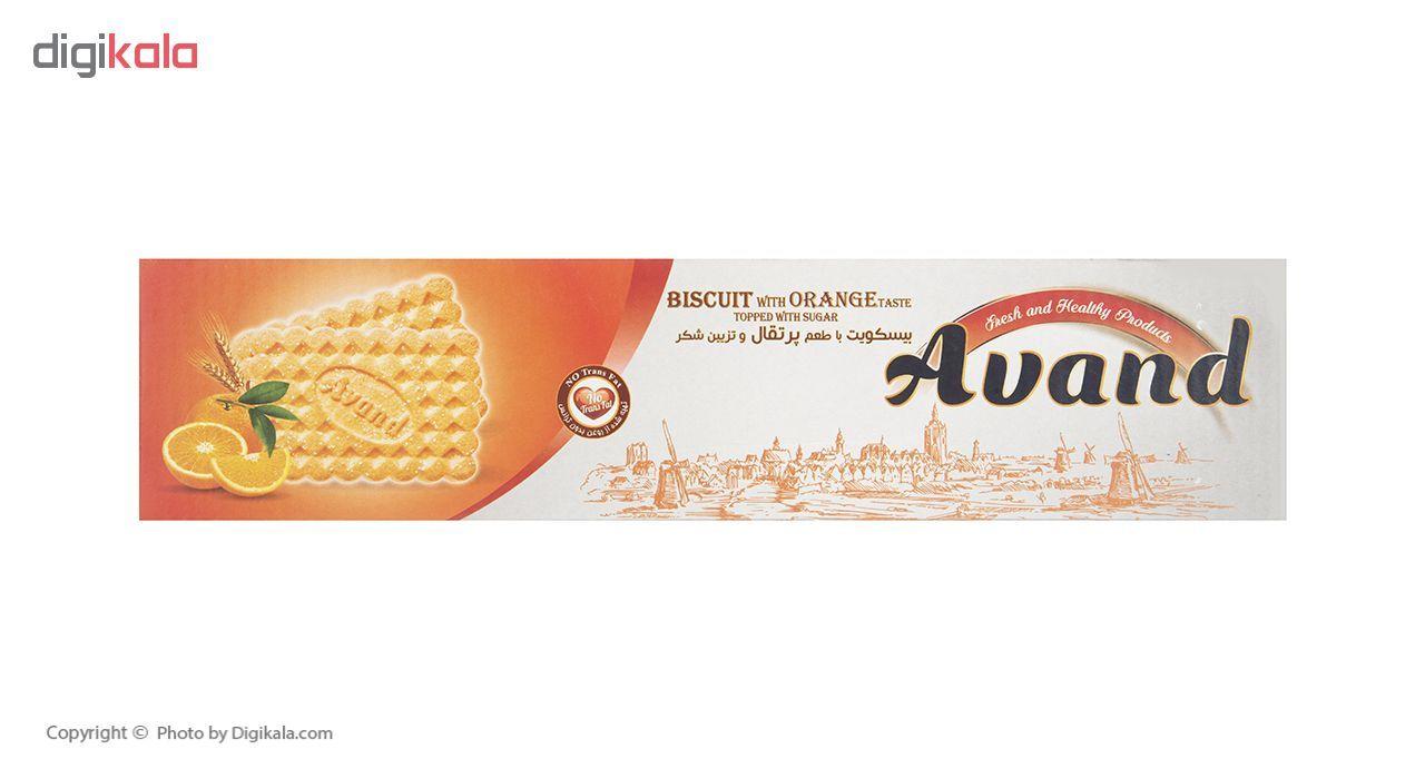 بیسکویت آوند با طعم پرتقال و تزیین شکر مقدار 900 گرم main 1 3