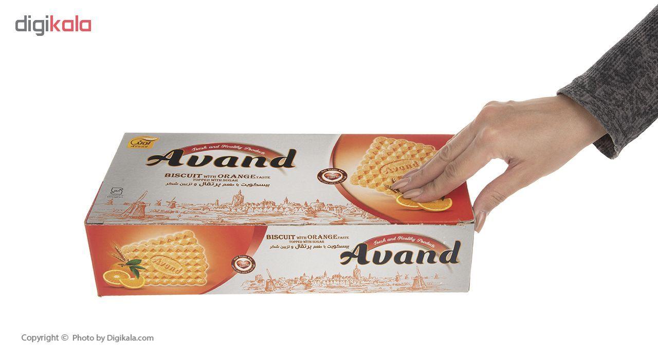 بیسکویت آوند با طعم پرتقال و تزیین شکر مقدار 900 گرم main 1 6
