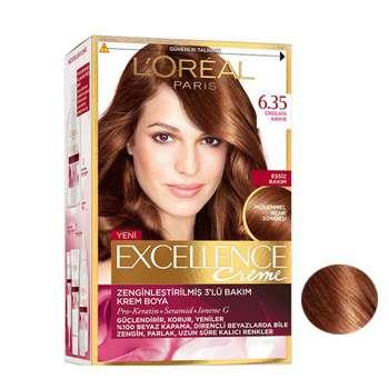 کیت رنگ مو لورآل سری Excellence شماره 6.35 حجم 48 میلی لیتر رنگ قهوه ای