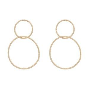گوشواره طلا 18 عیار دخترانه گیرا گالری کد 1009