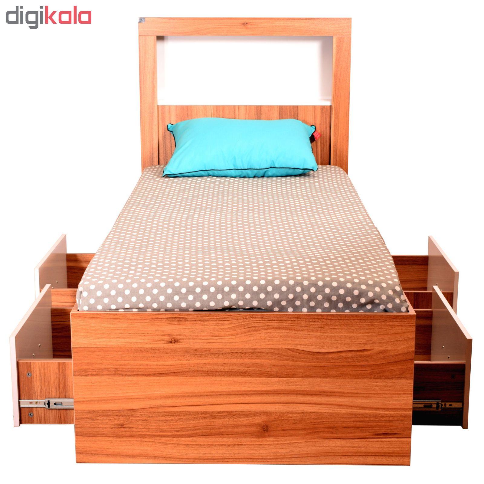 تخت خواب یک نفره لمکده مدل دلارا سایز 211*94 سانتی متر main 1 2