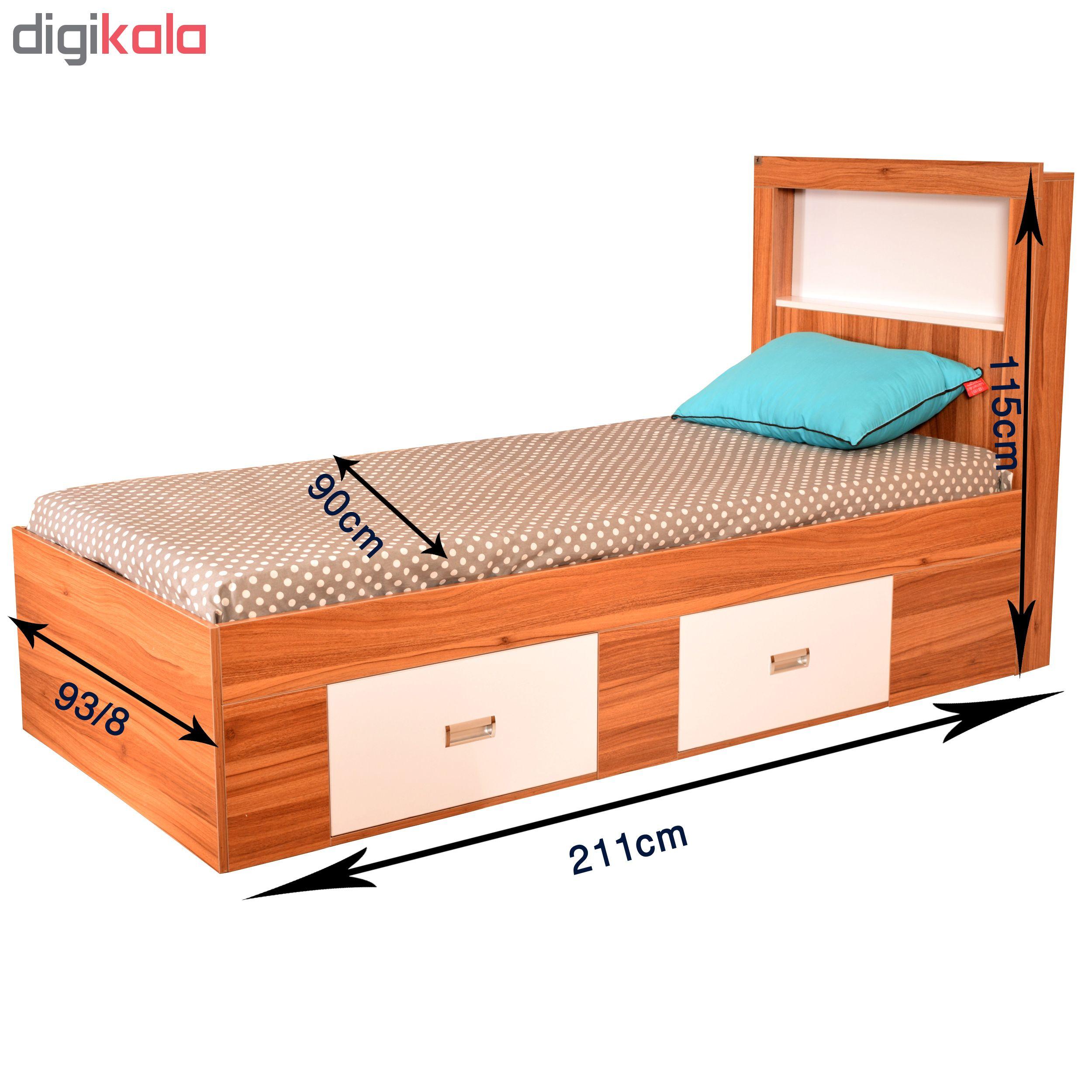 تخت خواب یک نفره لمکده مدل دلارا سایز 211*94 سانتی متر main 1 3