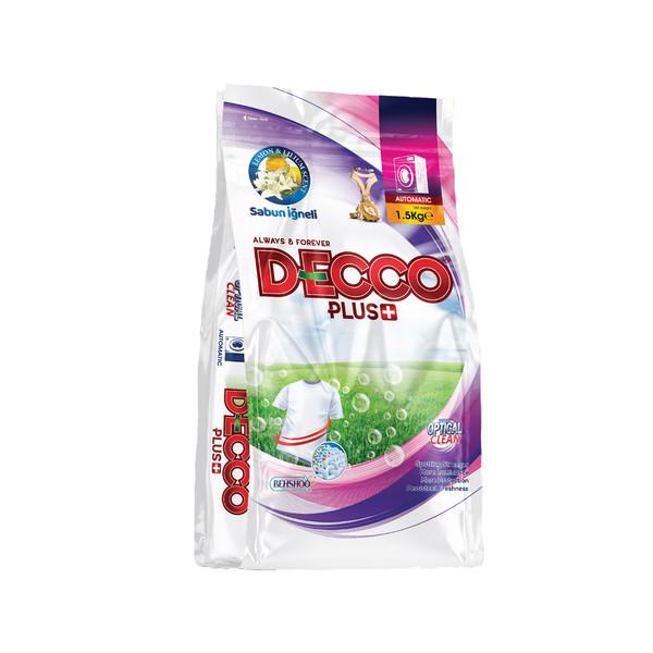 پودر لباسشویی دکوپلاس+ مدل optical clean وزن 1500 گرم