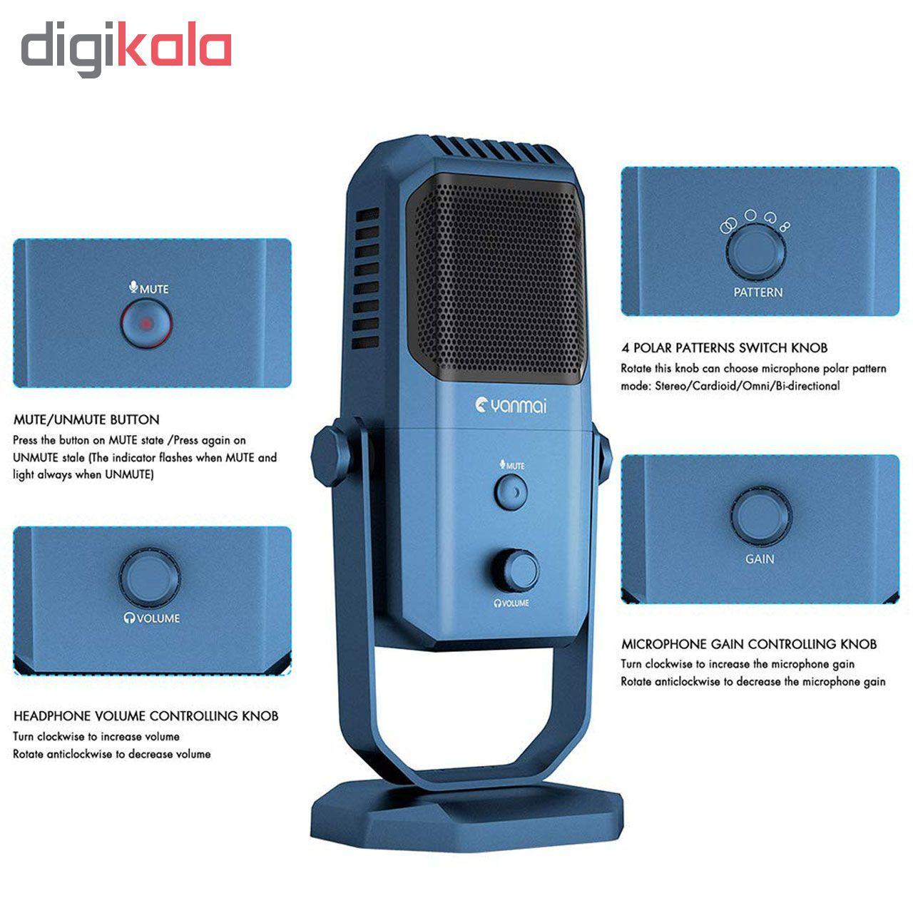 میکروفون استودیویی یانمای مدل SF-900 main 1 2