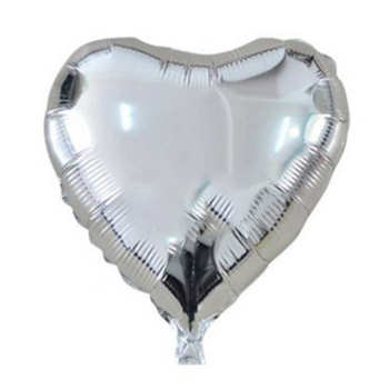 بادکنک فویلی مدل قلب نقره ای 18 اینچ سایز 150