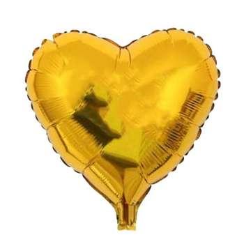 بادکنک فویلی مدل قلب طلایی سایز 150