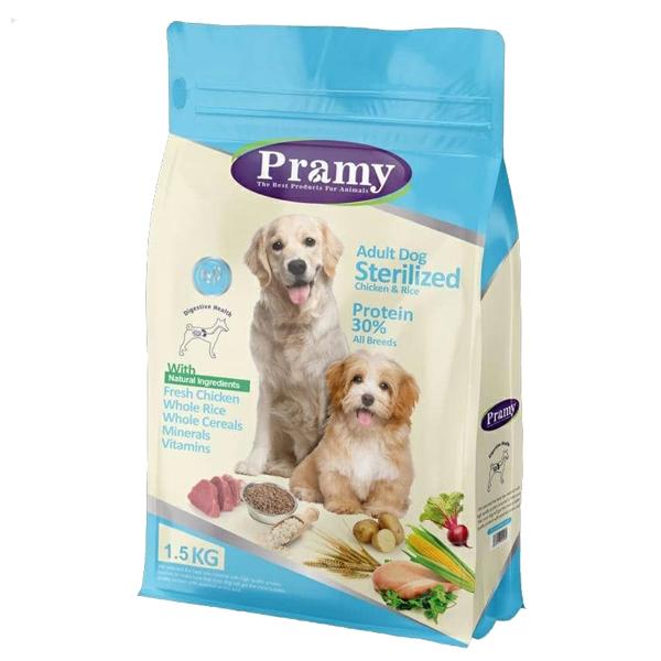 غذای خشک سگ عقیم شده پرامی مدل Sterilized حجم 1.5 کیلوگرم