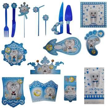 پک جشن تولد گالری زیبا باکس مدل تم دندونی آبی سایز 300 × 180