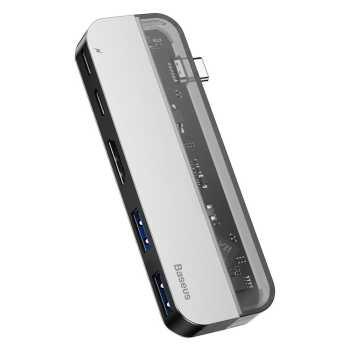 هاب USB-C چهار پورت باسئوس مدل CAHUB-TD0G