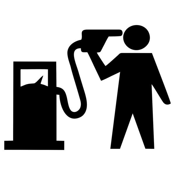 برچسب بدنه خودرو طرح باک بنزین کد 32