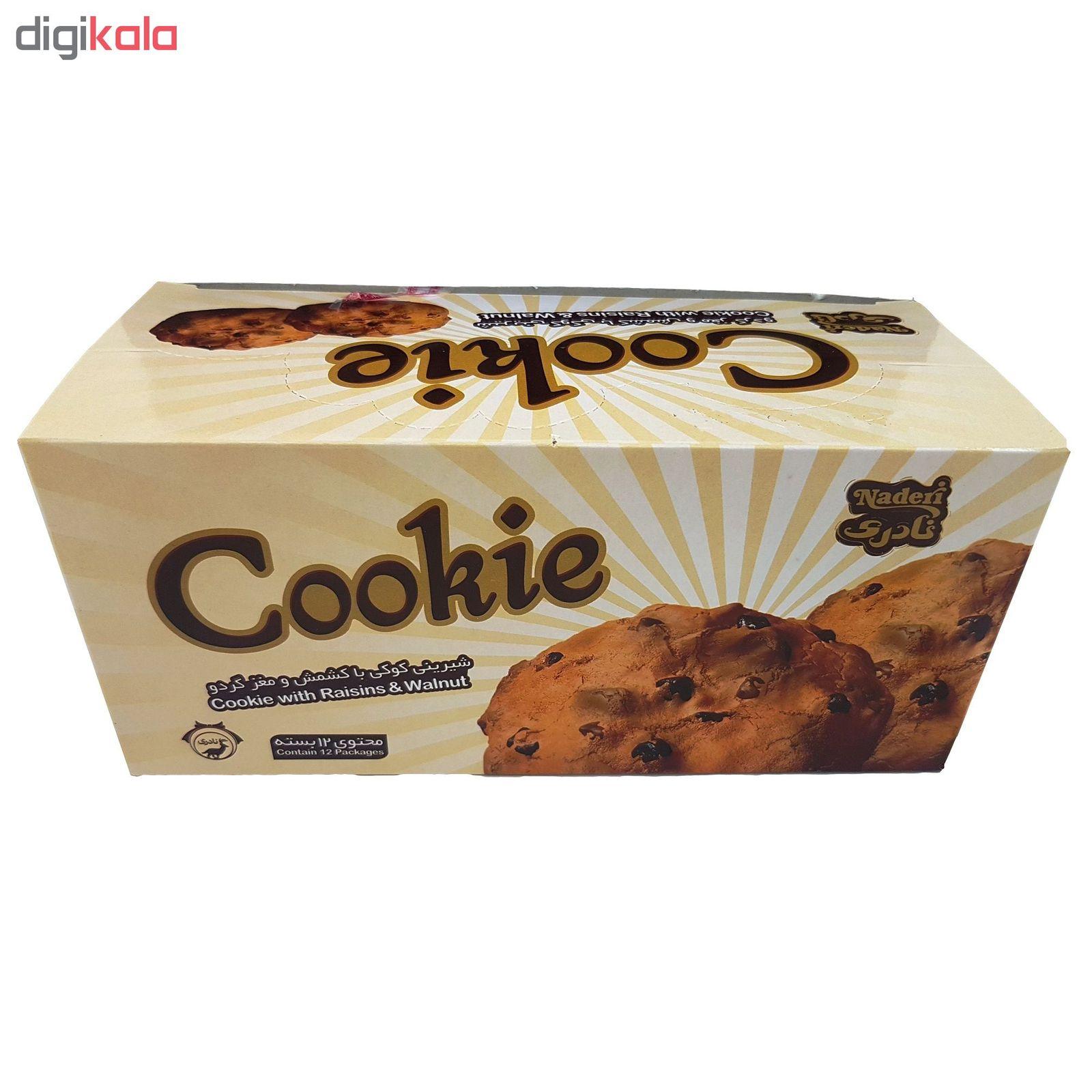 شیرینی کوکی با کشمش و مغز گردو نادری مقدار 40 گرم بسته 12 عددی main 1 3