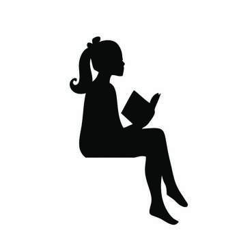 استیکر کلید و پریز طرح دختر کتاب خوان کد 125