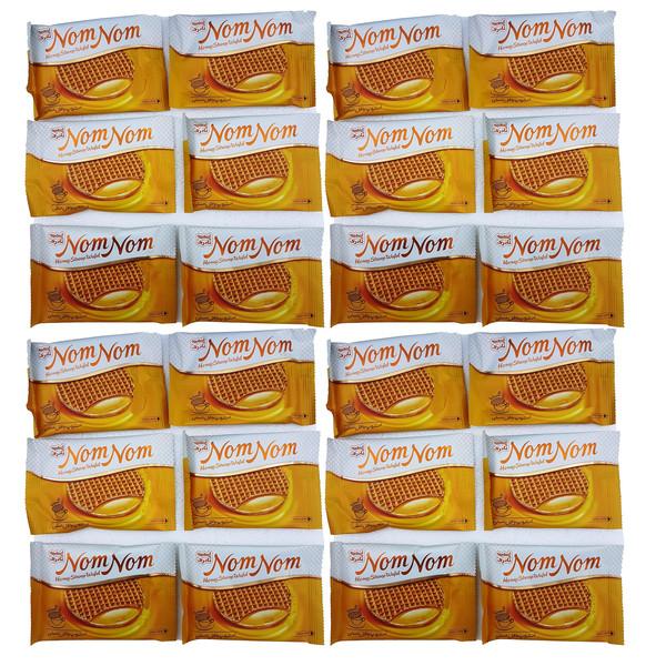 وافل عسلی نادری مقدار 37 گرم بسته 24 عددی