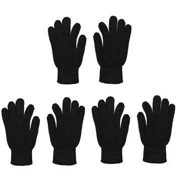 دستکش بافتنی مردانه منوچهری کد 35444 بسته 3 عددی
