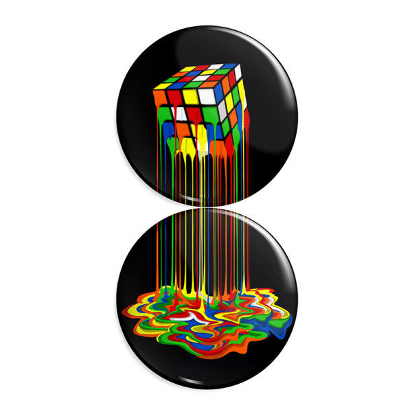 پیکسل طرح بازی مکعب روبیک کد R140 مجموعه 2 عددی