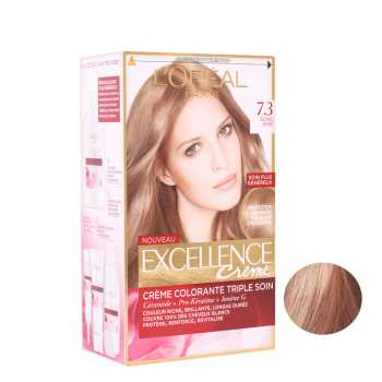 کیت رنگ مو لورآل سری Excellence شماره 7.3 حجم 48 میلی لیتر رنگ بلوند طلایی تیره
