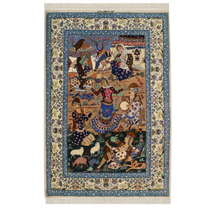 فرش دستبافت دو متری اصفهان ضیائی کد 1105799