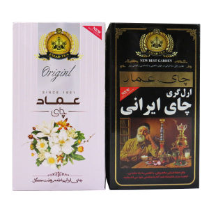 چای ایرانی ارل گری عماد مقدار 450گرم به همراه چای ایرانی هفت گل عماد مقدار450گرم