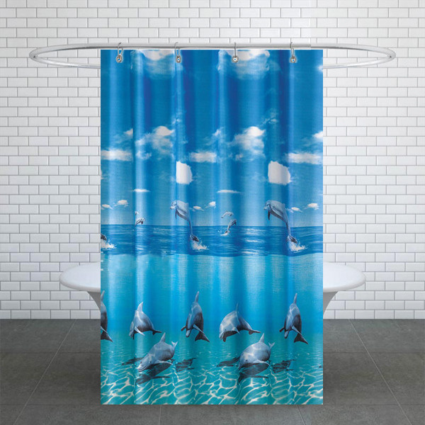 پرده حمام دلفین کد TOR-8852 سایز 200×180 سانتی متر