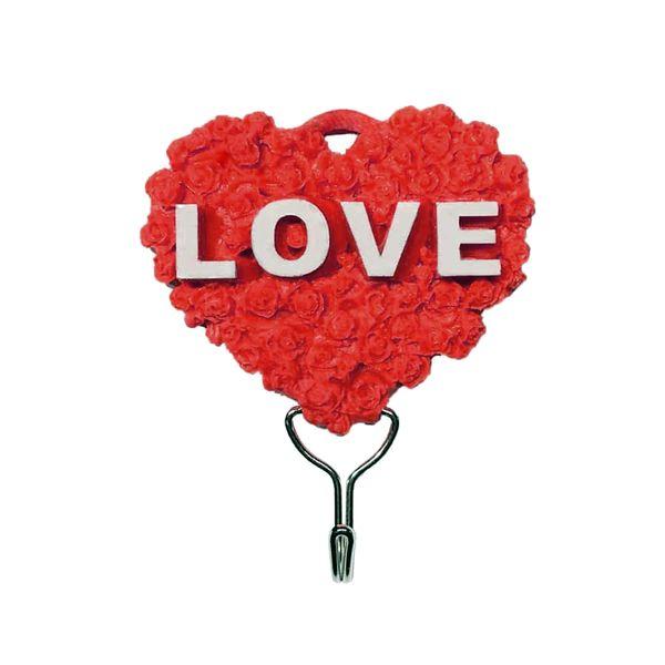 قلاب آویز حوله طرح قلب کد LOV