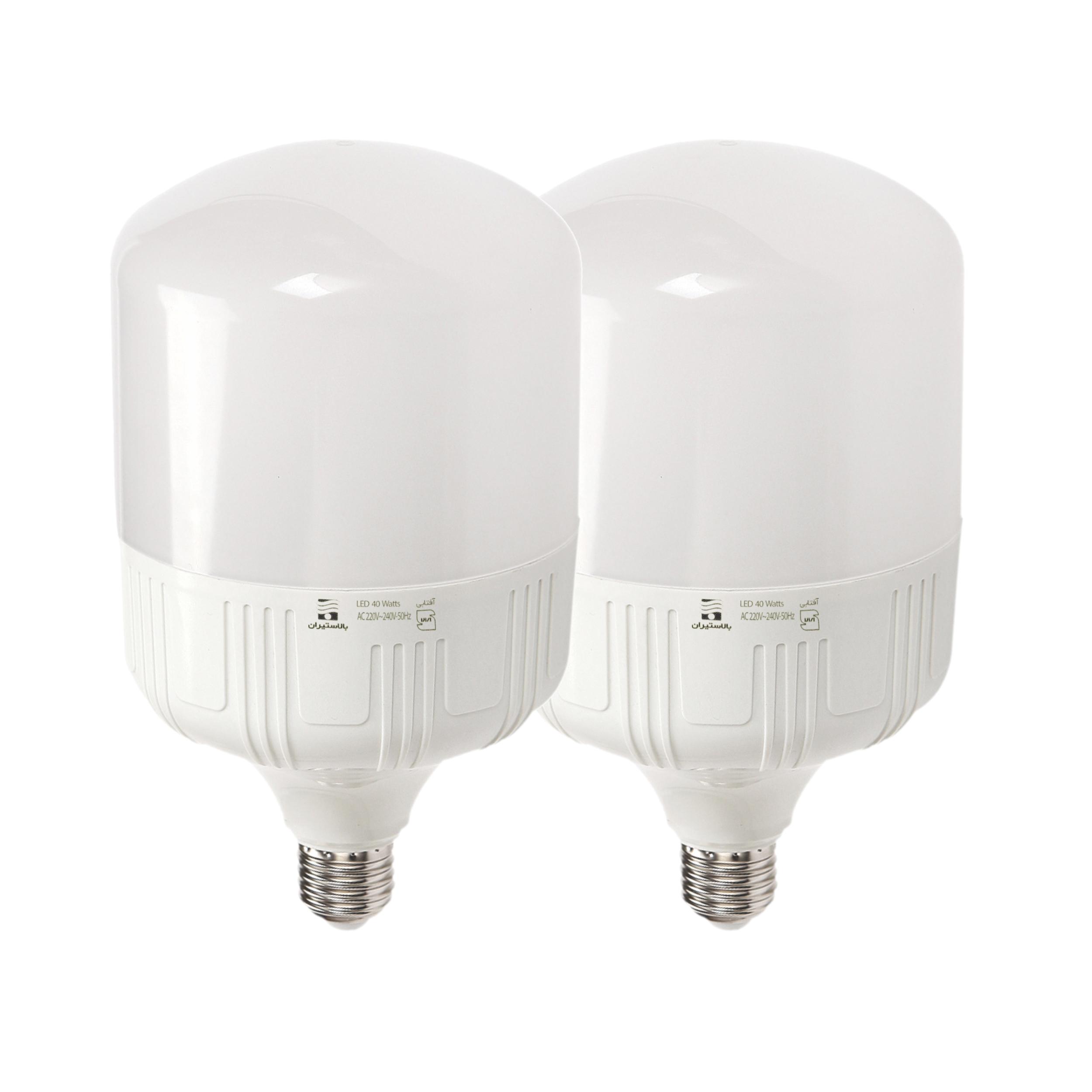 لامپ ال ای دی 40 وات بالاستیران مدل Cap40 پایه E27 بسته 2 عددی