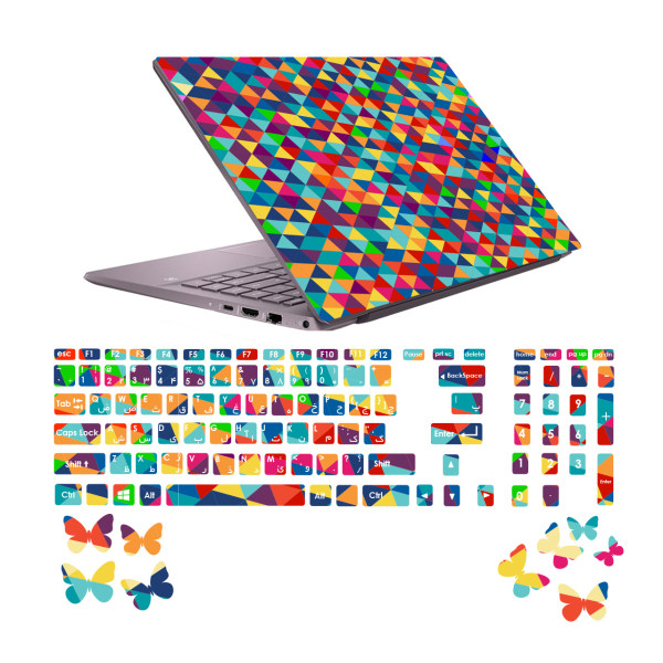 استیکر لپ تاپ صالسو آرت مدل 5000 hk به همراه برچسب حروف فارسی کیبورد