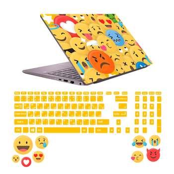 استیکر لپ تاپ صالسو آرت مدل 5001 hk به همراه برچسب حروف فارسی کیبورد