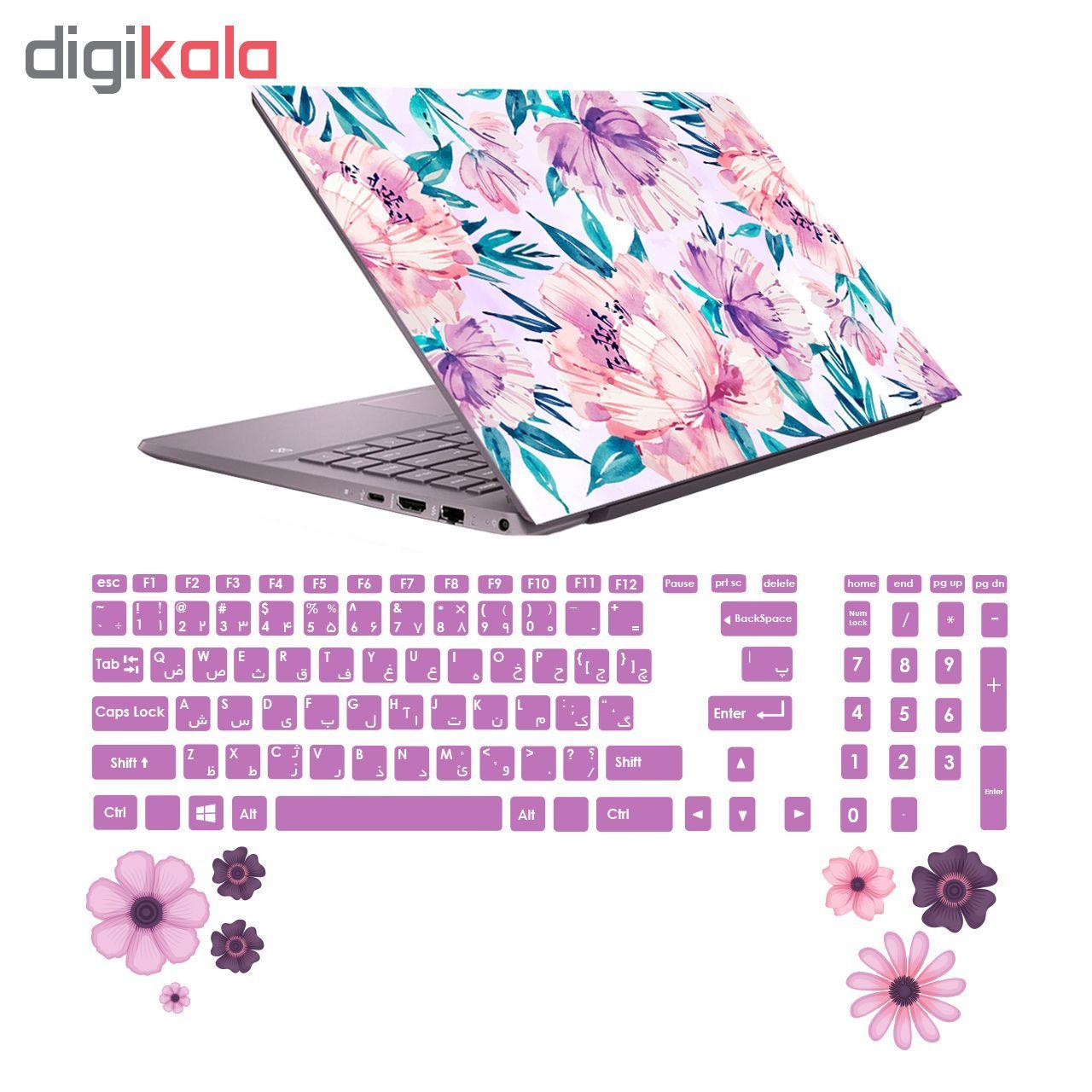 استیکر لپ تاپ صالسو آرت مدل 5002 hk به همراه برچسب حروف فارسی کیبورد main 1 5