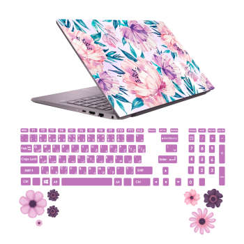 استیکر لپ تاپ صالسو آرت مدل 5002 hk به همراه برچسب حروف فارسی کیبورد