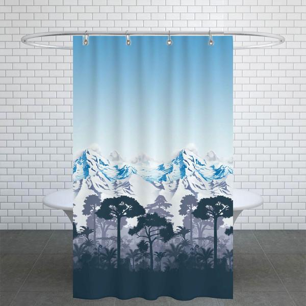 پرده حمام دلفین کد Ev-10292 سایز 200×180 سانتی متر